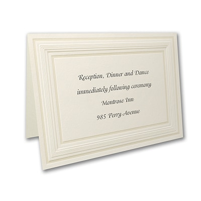 Intricate Panel Ecru - Reception Card