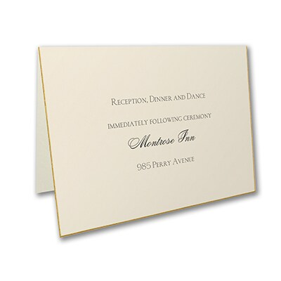 Exquisite Golden Border - Reception Card