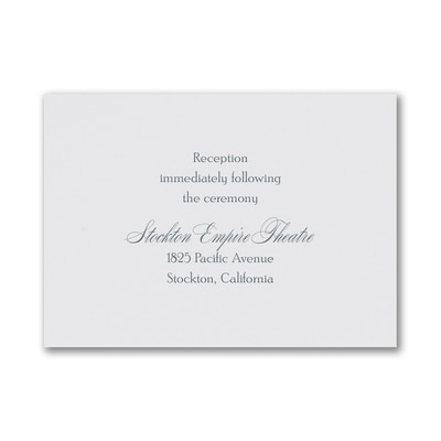 Beautiful Vows - Reception Card