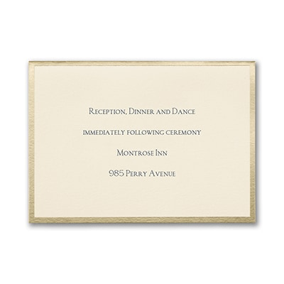 Joyful Brilliance - Reception Card