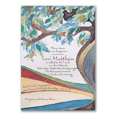 Tree of Life Cerulean - Invitation