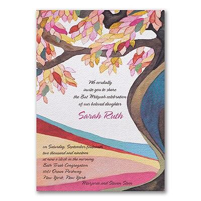 Tree of Life - Magenta - Invitation