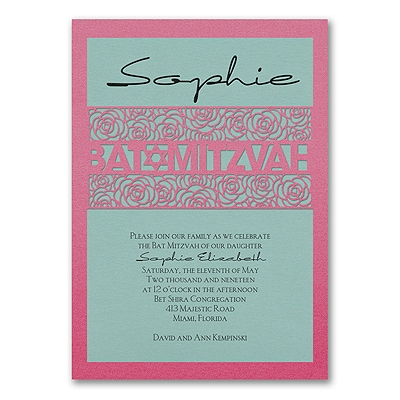 Meaningful Mitzvah - Girl - Invitation - Lagoon Shimmer