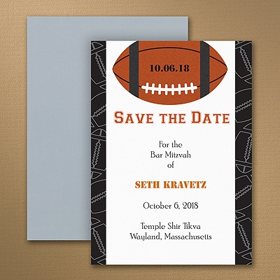 Sports Star - Football - Save the Date Magnet
