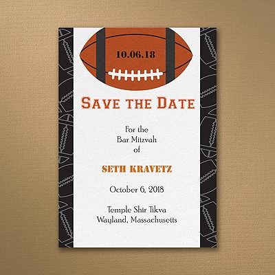 Sports Star - Football - Save the Date Card