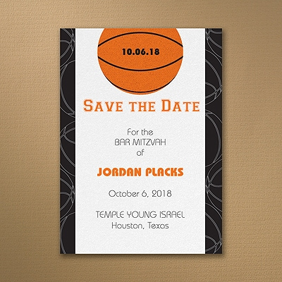 Sports Star - Basketball - Save the Date Card