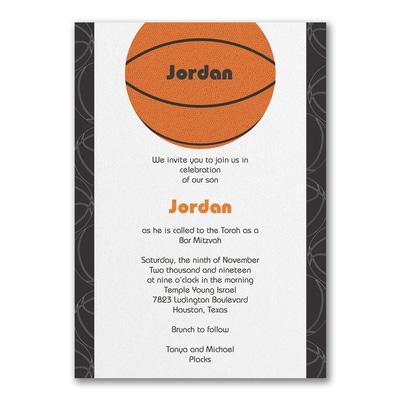 Sports Star - Basketball - Invitation