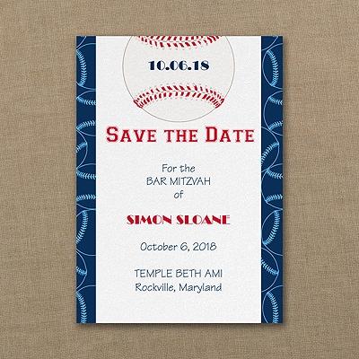 Sports Star - Baseball - Save the Date Card