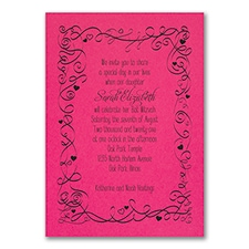 Turn of Tradition - Invitation - Fuchsia