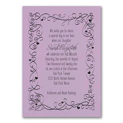 Turn of Tradition - Invitation - Lavender