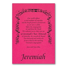Tradition of Faith - Invitation - Fuchsia