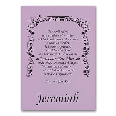 Tradition of Faith - Invitation - Lavender