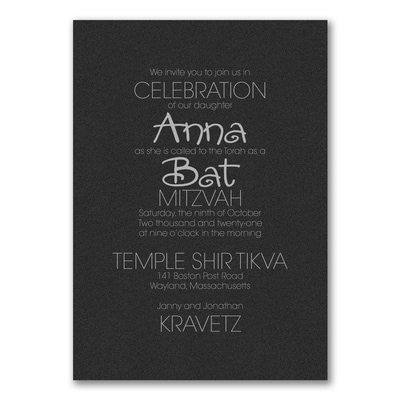 Your Style - Invitation - Black Shimmer