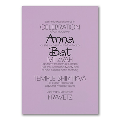 Your Style - Invitation - Lavender