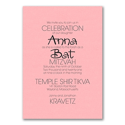Your Style - Invitation - Pastel Pink Shimmer