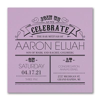 Poster Proclamation - Invitation - Lavender