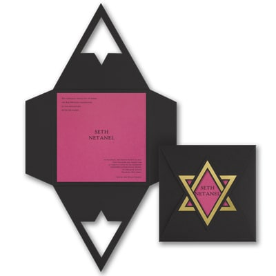 Shield of David - Invitation - Fuchsia