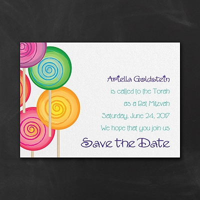 Sweet as Candy - Save the Date Card