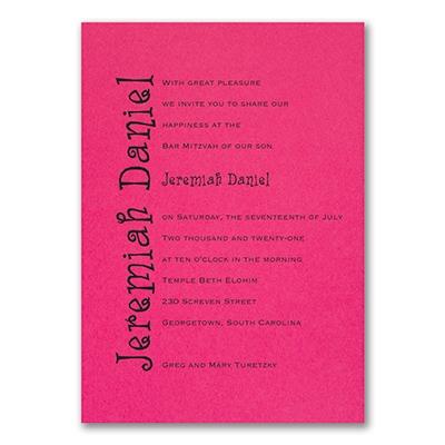 Discovery - Invitation - Fuchsia