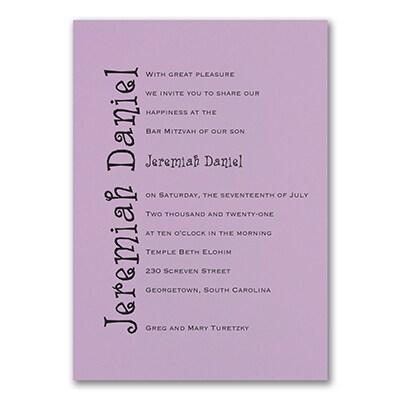 Discovery - Invitation - Lavender