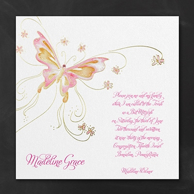 Butterfly Shimmer - Invitation