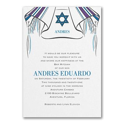 Tallit and Star - Invitation
