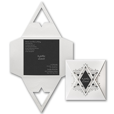 Starry Wrap - Invitation - Black Shimmer