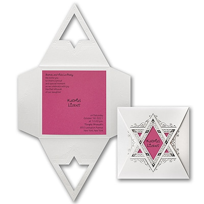 Starry Wrap - Invitation - Fuchsia
