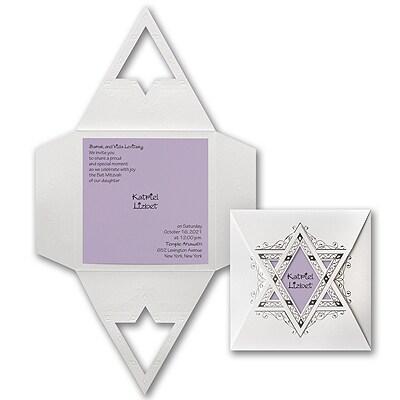 Starry Wrap - Invitation - Lavender