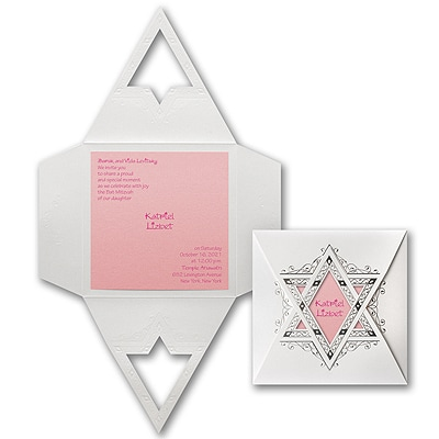 Starry Wrap - Invitation - Pastel Pink Shimmer