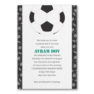 Sports Star - Soccer - Invitation