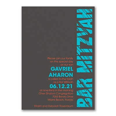 Mitzvah Lines - Invitation