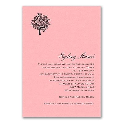 Designer Mitzvah - Invitation - Pastel Pink Shimmer