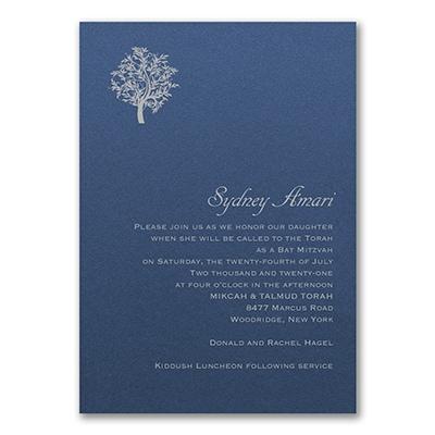 Designer Mitzvah - Invitation - Sapphire Shimmer