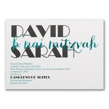 Celebrating Big - B'nai Mitzvah - Invitation