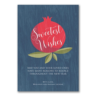 plentiful fruit jewish new year card