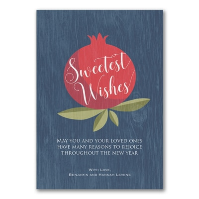Plentiful Fruit - Jewish New Year Card