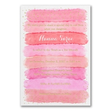 Bright Watercolor - Invitation - Coral