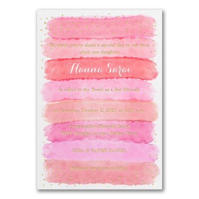 Bright Watercolor - Invitation - Coral