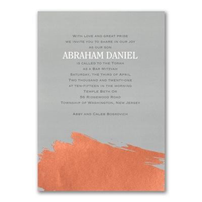 Painted Foil - Invitation
