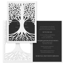 Tree of Life - Invitation - Black Shimmer