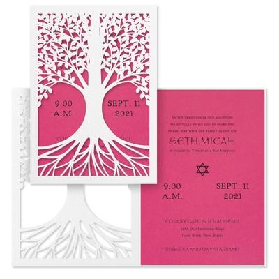Tree of Life - Invitation - Fuchsia
