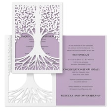 Tree of Life - Invitation - Lavender