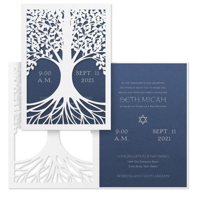 Tree of Life - Invitation - Sapphire Shimmer