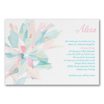 Watercolor Celebration - Invitation - Pink