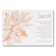 Watercolor Celebration - Invitation - Coral