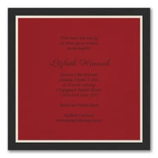 Sophisticated Layers - Invitation - Claret