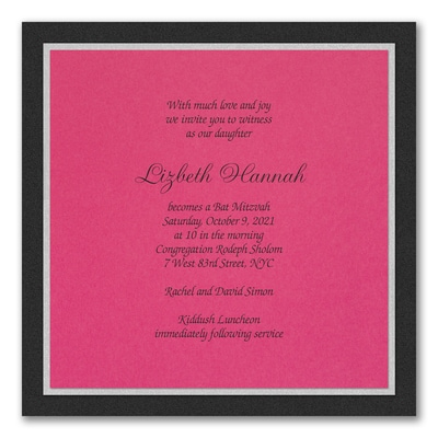 Sophisticated Layers - Invitation - Fuchsia