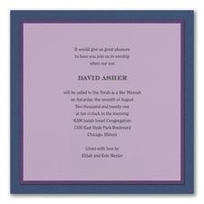 Sophisticated Sapphire - Invitation - Lavender