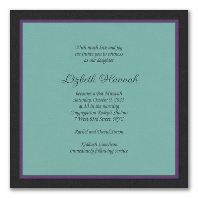 Sophisticated Layers - Invitation - Lagoon Shimmer